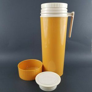 Vintage Mustard Yellow King Seeley Thermos 1 QT